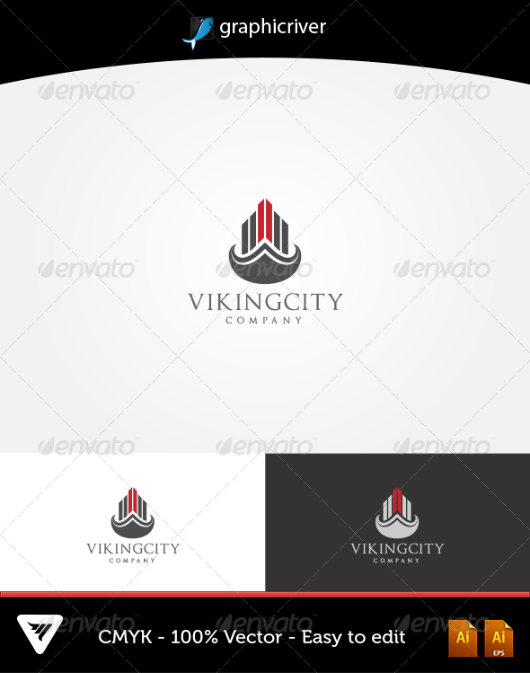 GraphicRiver VikingCity Logo 5622011