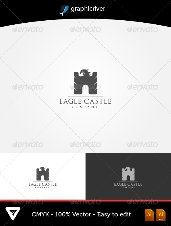 GraphicRiver Eagle Castle Logo 5622034