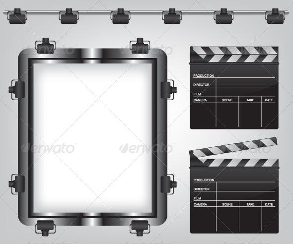 GraphicRiver Movie Equipment Illustration 5622105
