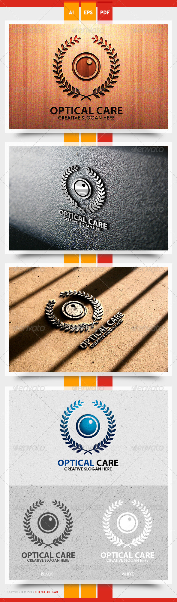 Optical Eye Logo Template - Objects Logo Templates