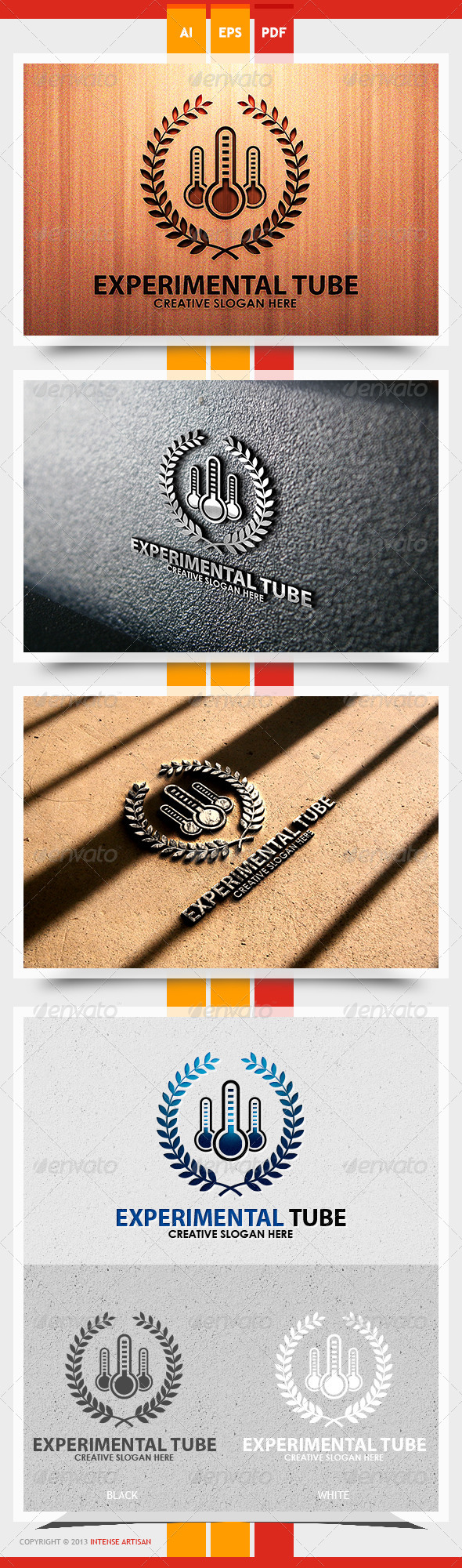 GraphicRiver Experimental Tube Logo Template 5622426