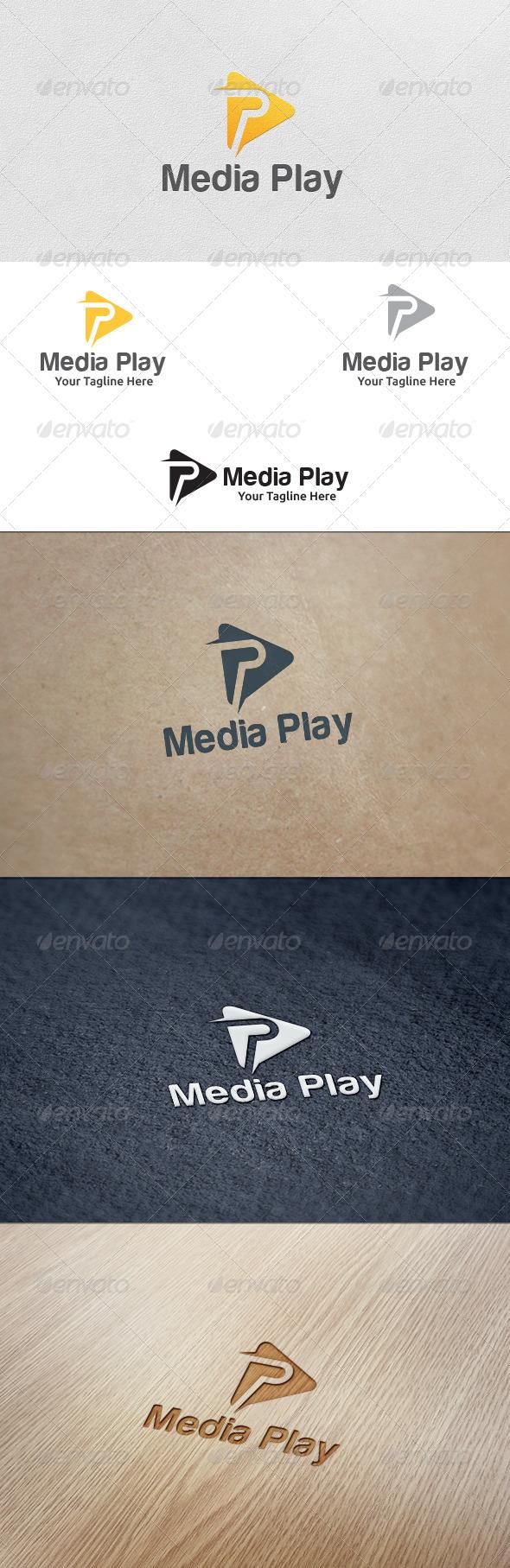 GraphicRiver Media Play Logo Template 5622610