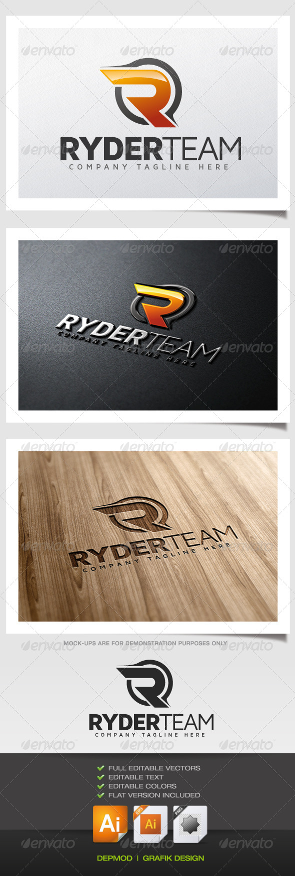 GraphicRiver Ryder Team Logo 5622612