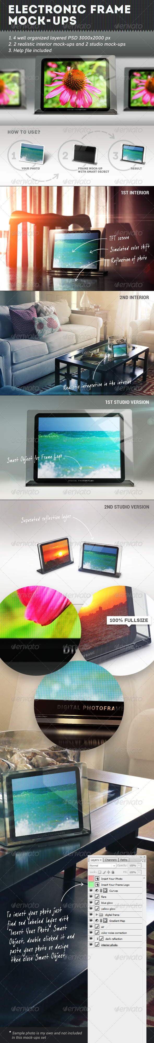 GraphicRiver Electronic Frames Mock-Ups 5617346