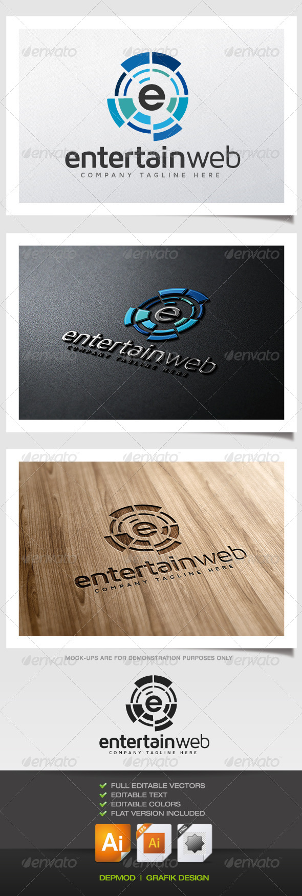 GraphicRiver Entertain Web Logo 5622993