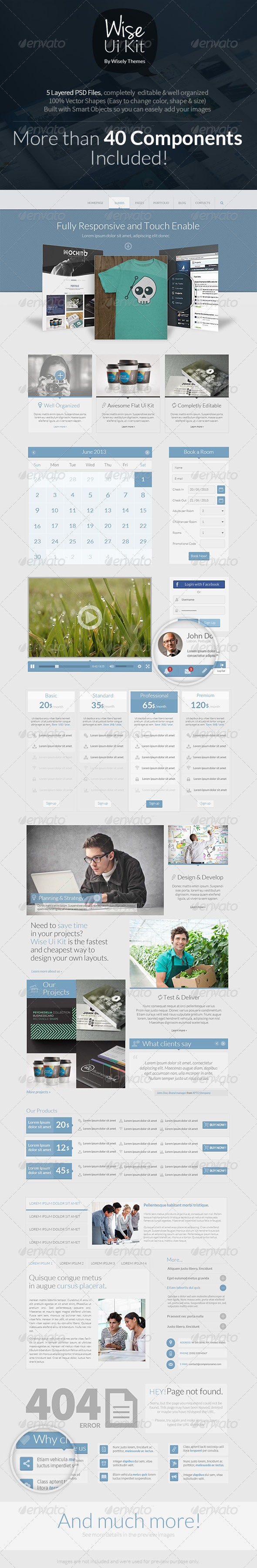 GraphicRiver Wise PSD Ui Kit 5610728