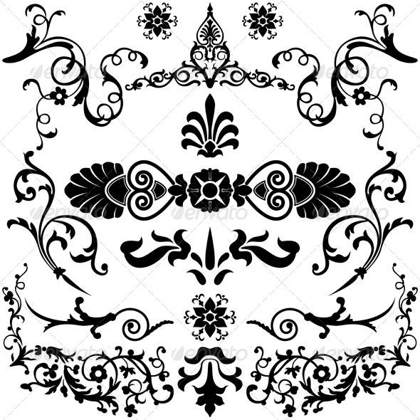 GraphicRiver Vintage Design Elements 5623174