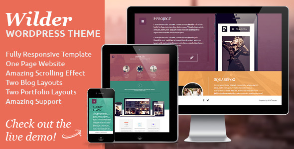 Wilder - Flat One Page Responsive WordPress Theme - Creative WordPress