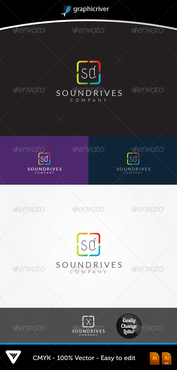 GraphicRiver SoundDrives Logo 5623847
