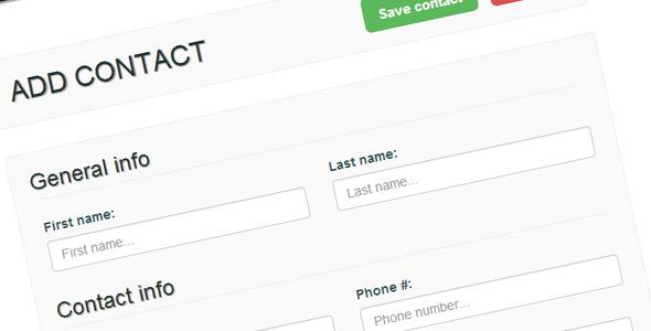 CodeCanyon Contactr Web-Based CRM 5571562