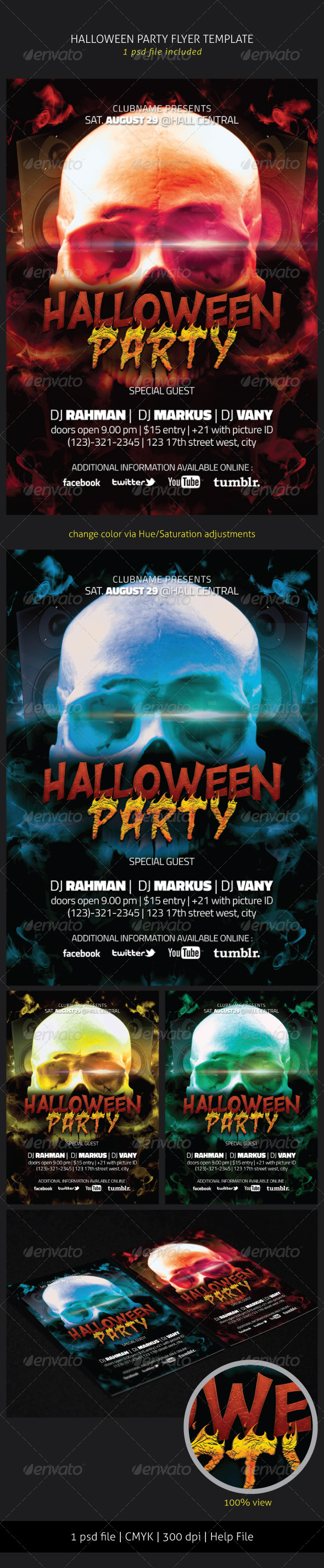 GraphicRiver Halloween Party Flyer 5624260
