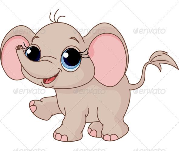 GraphicRiver Baby Elephant 5624381