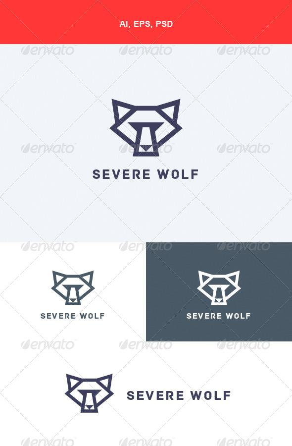 GraphicRiver Severe Wolf Logo 5624582