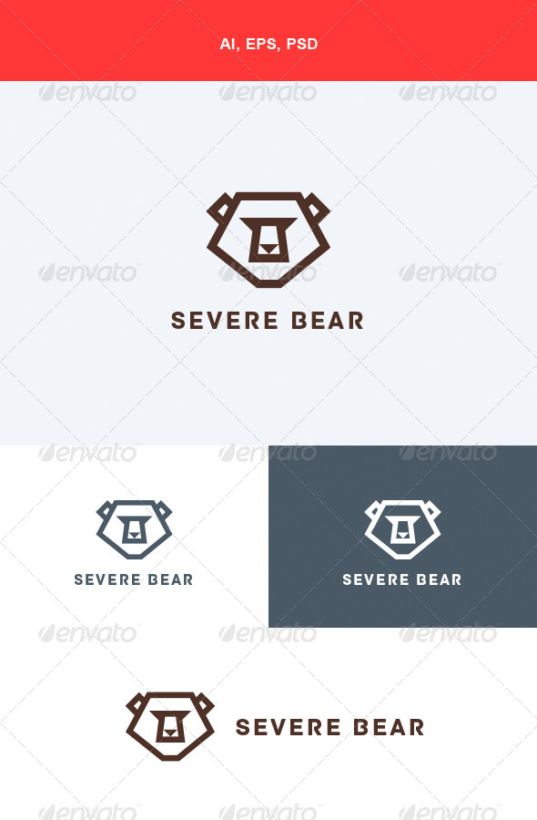GraphicRiver Severe Bear Logo 5624589