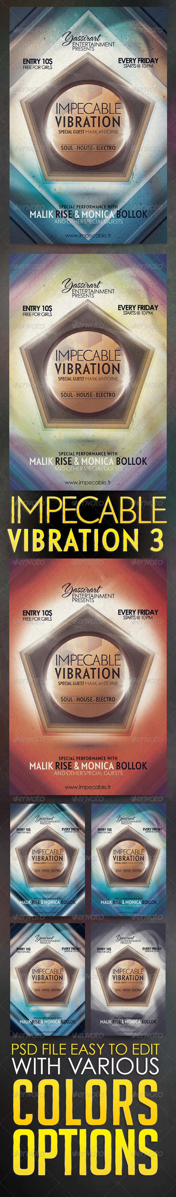 GraphicRiver Impecable Vibration 3 Flyer Template 5624618