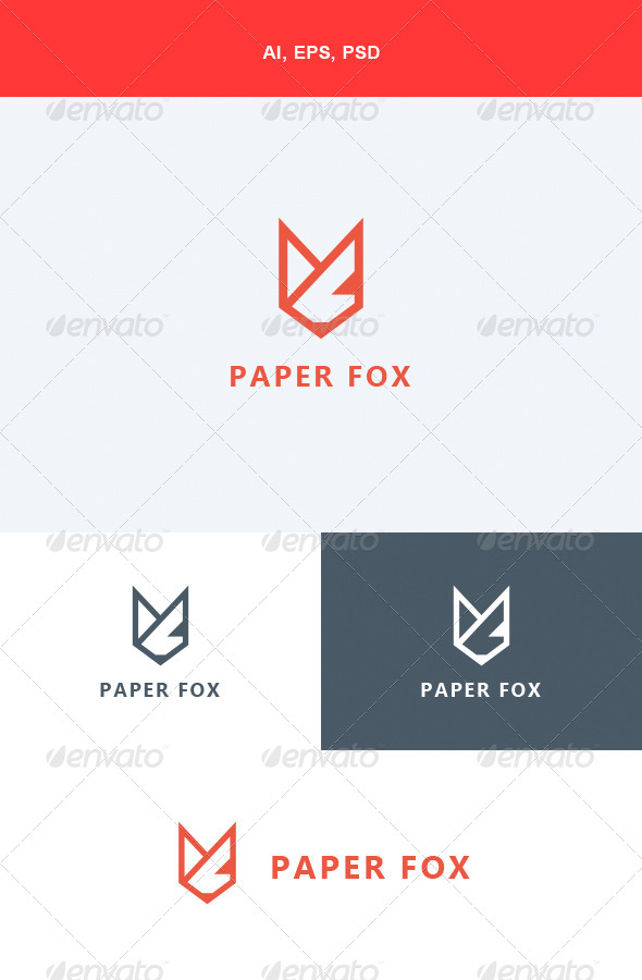 GraphicRiver Paper Fox Logo 5624620