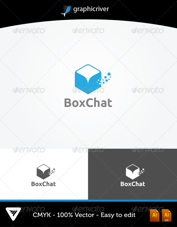 GraphicRiver BoxChat Logo 5625073