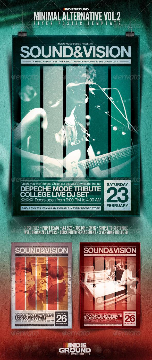 Minimal Alternative Flyer/Poster Vol. 2 - Clubs & Parties Events