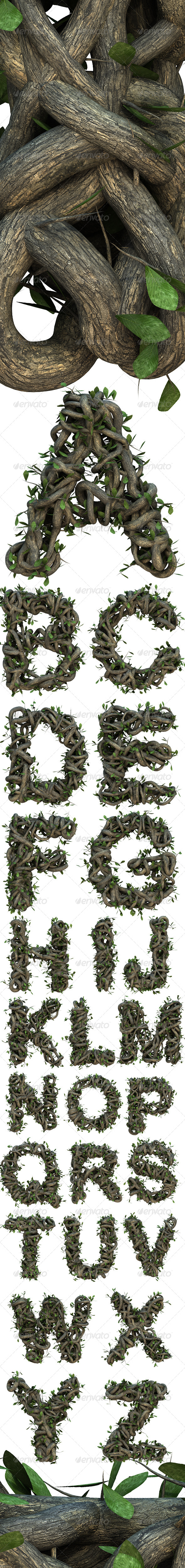 GraphicRiver Ivy Uppercase Alphabet 5625342