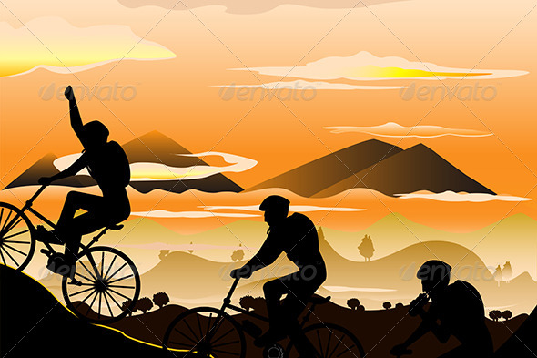 GraphicRiver Mountain Biking 5625500