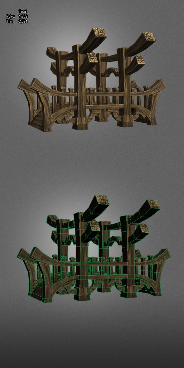 3DOcean Wooden Bridge Low Poly 5625522