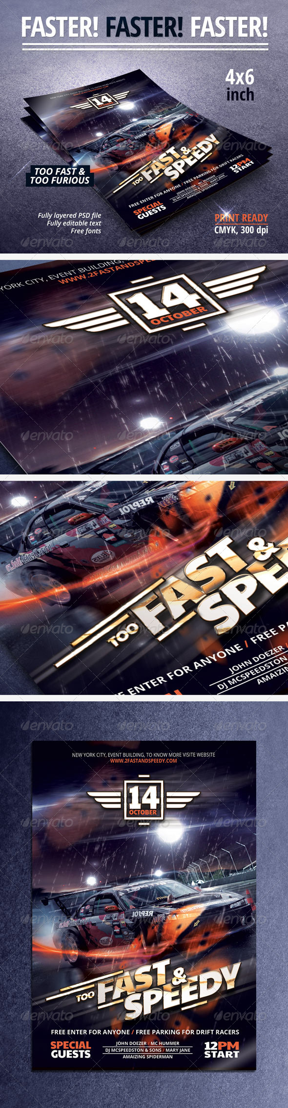 GraphicRiver Fast & Speedy Party Flyer 5625546