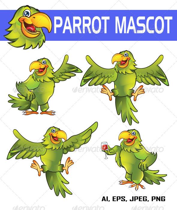 GraphicRiver Parrot Mascot 5625604