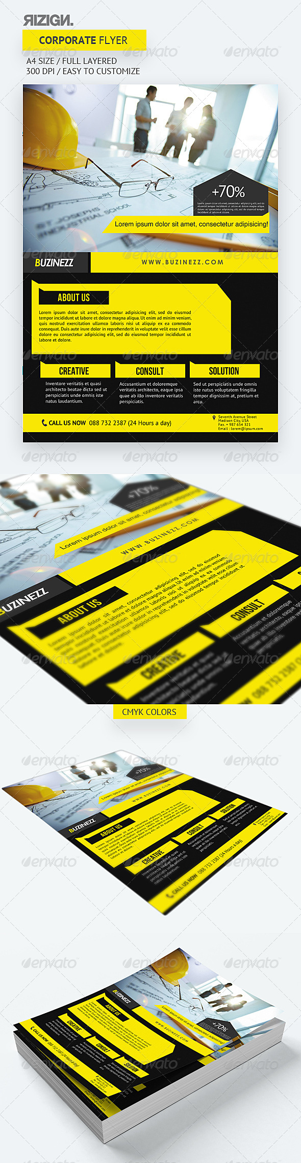 GraphicRiver Corporate Flyer 5625615
