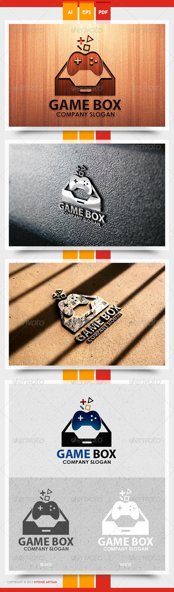 GraphicRiver Game Box Logo Template 5625704