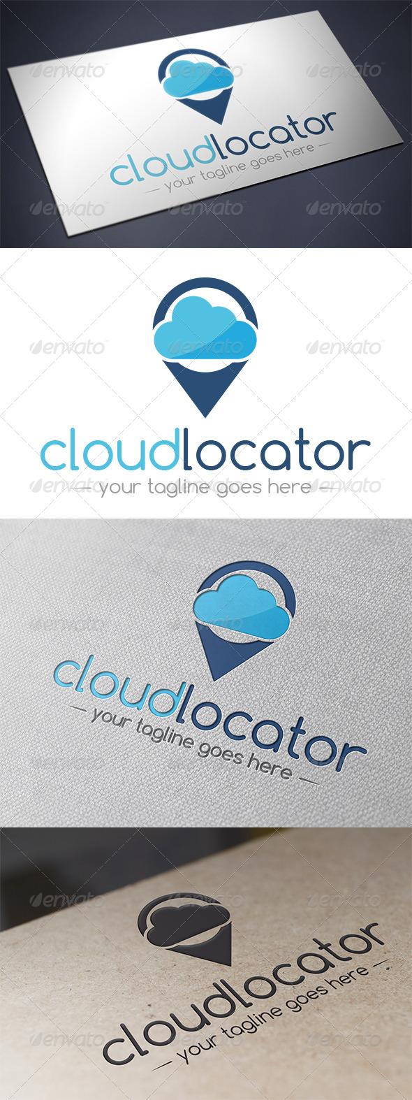 Cloud Locator Logo Template