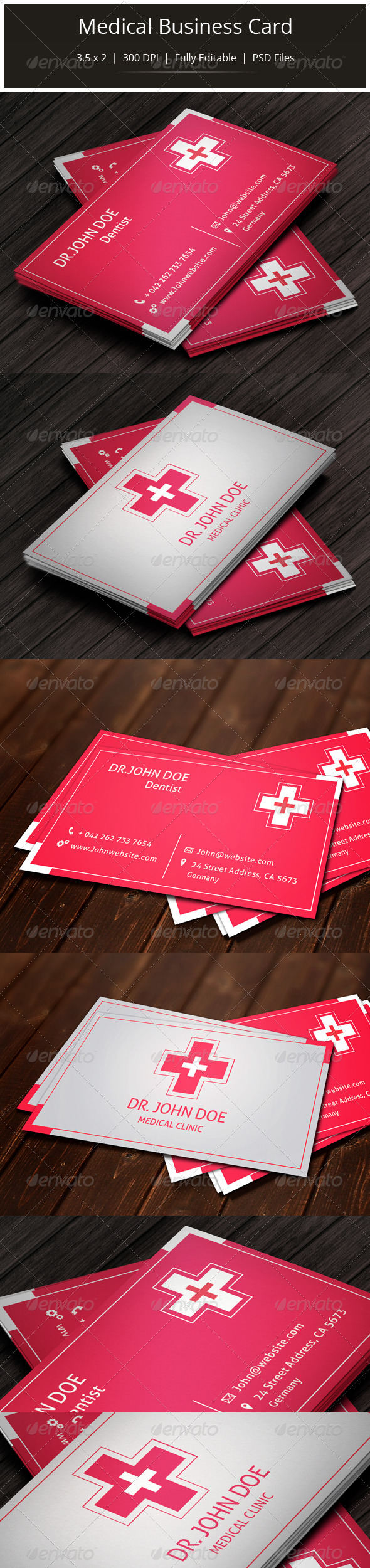 GraphicRiver Medical Business Card 5625954