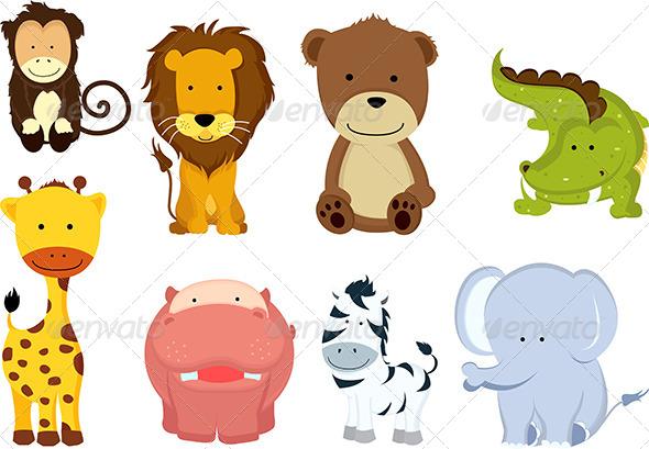 GraphicRiver Wild Cartoon Animals 5626115