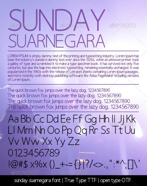 GraphicRiver Sunday Suarnegara Font 5626137