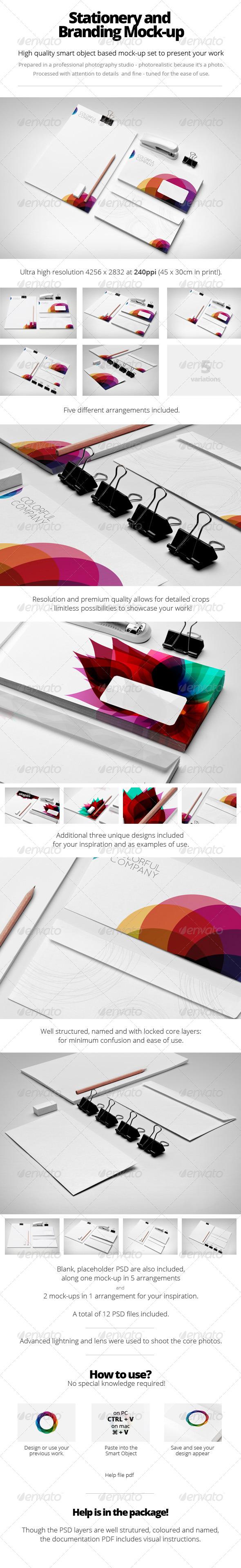 GraphicRiver Branding Stationery Mock-Up 5626237