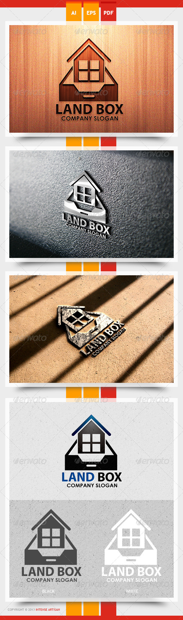 GraphicRiver Land Box Logo Template 5626322
