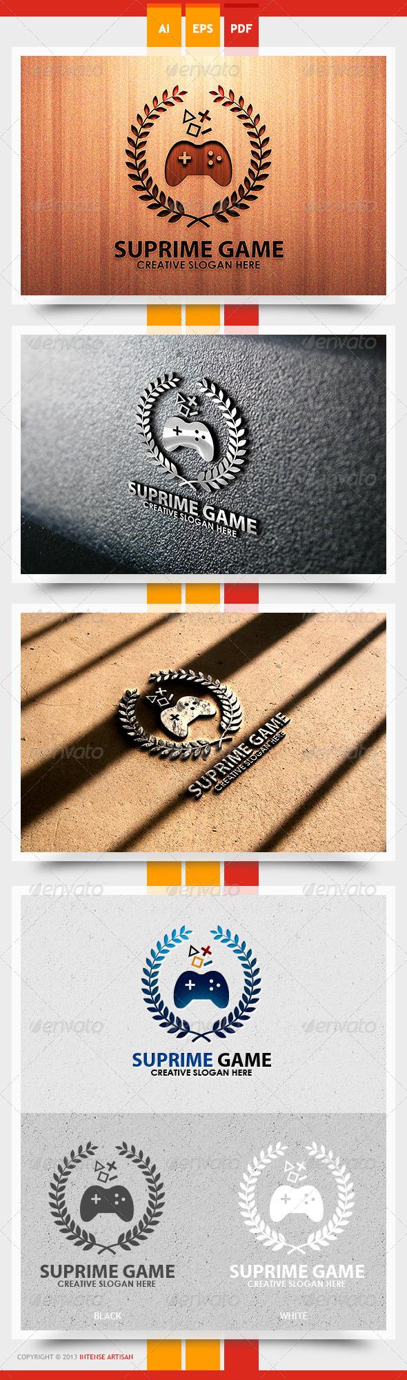 GraphicRiver Supreme Game Logo Template 5626330