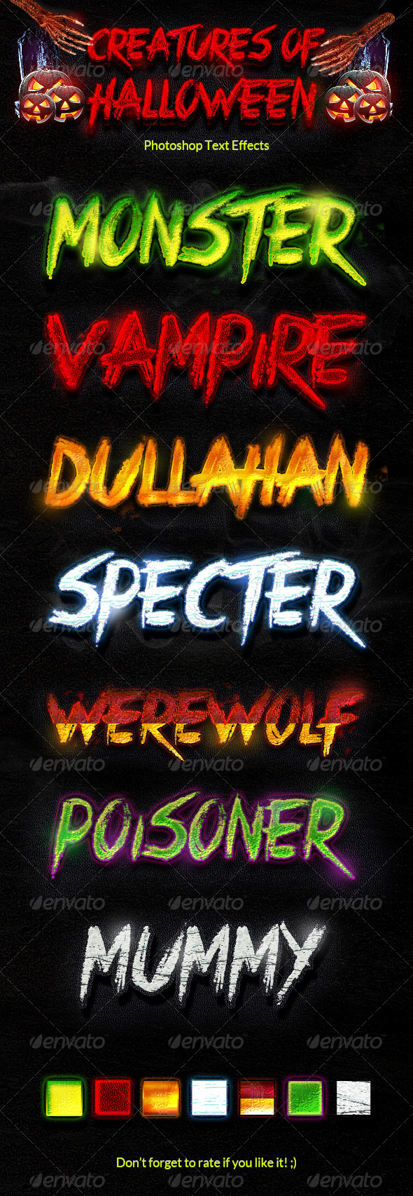 GraphicRiver Creatures of Halloween Text Effects 5627020