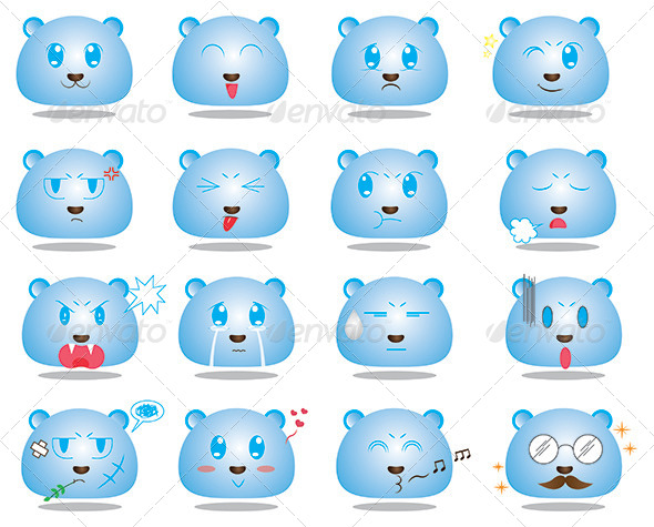 GraphicRiver Anime Style Face Emoticon Set 1 5610828