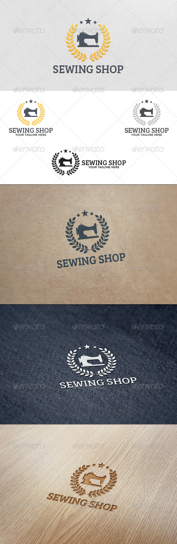 GraphicRiver Sewing Shop Logo Template 5627499