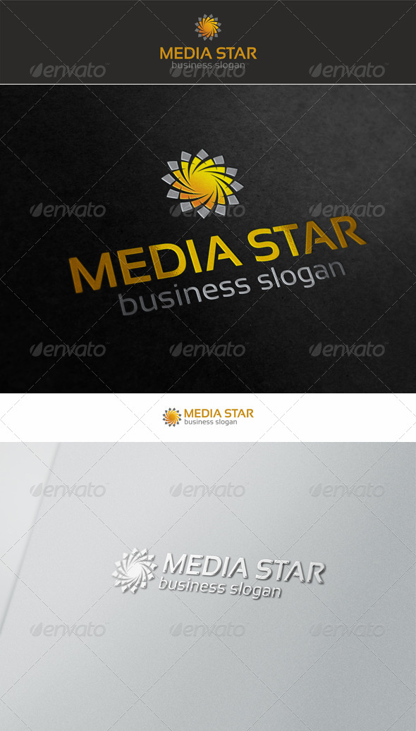 Media Star Swirl Logo - Symbols Logo Templates