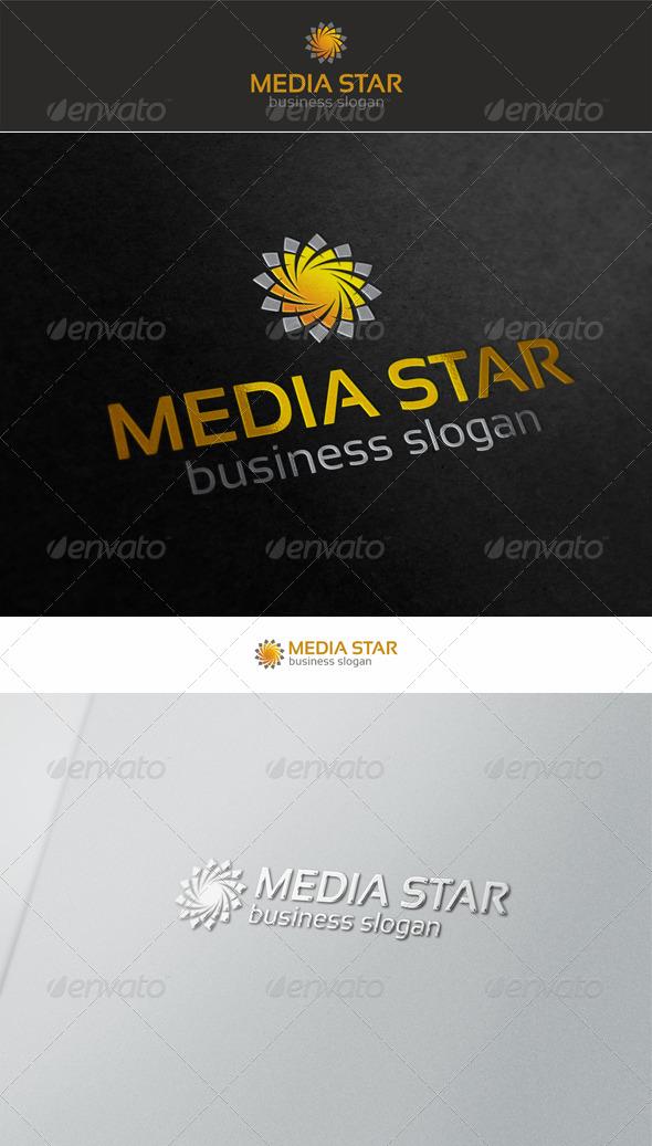 GraphicRiver Media Star Swirl Logo 5628184