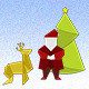 Christmas Origami - GraphicRiver Item for Sale