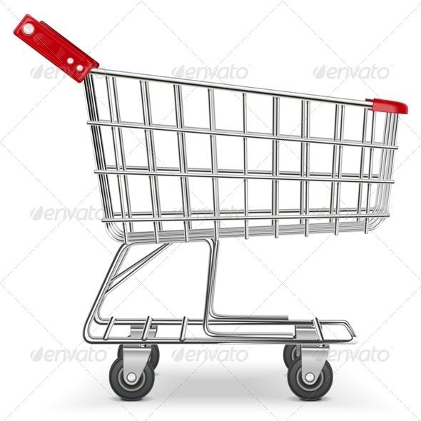Vector Supermarket Cart