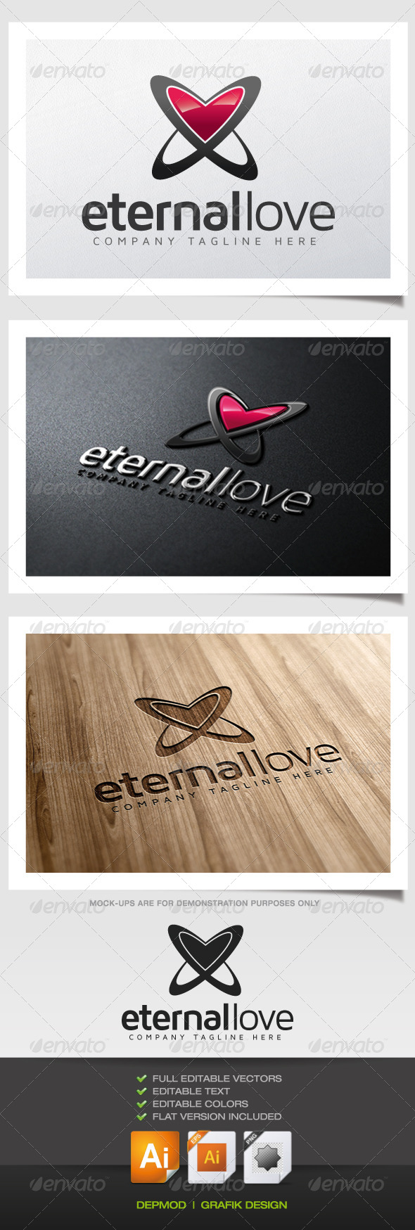 GraphicRiver Eternal Love Logo 5628717
