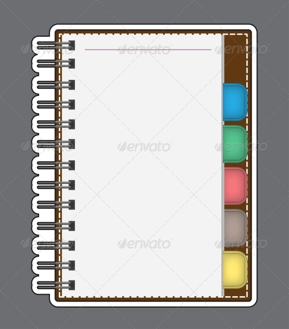 GraphicRiver Blank Paper with Notebook Vector Outline 5628788