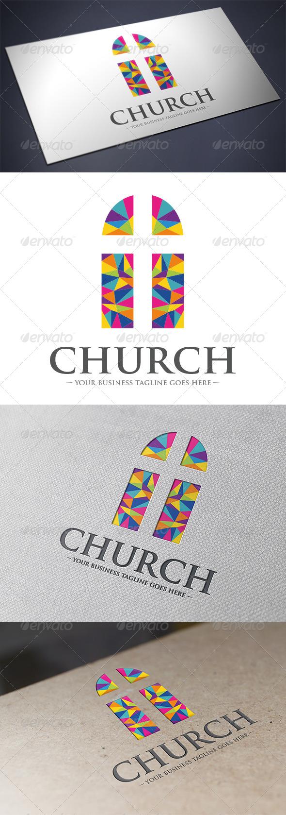 GraphicRiver Church Logo Template 5628791