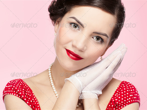 retro girl - Stock Photo - Images
