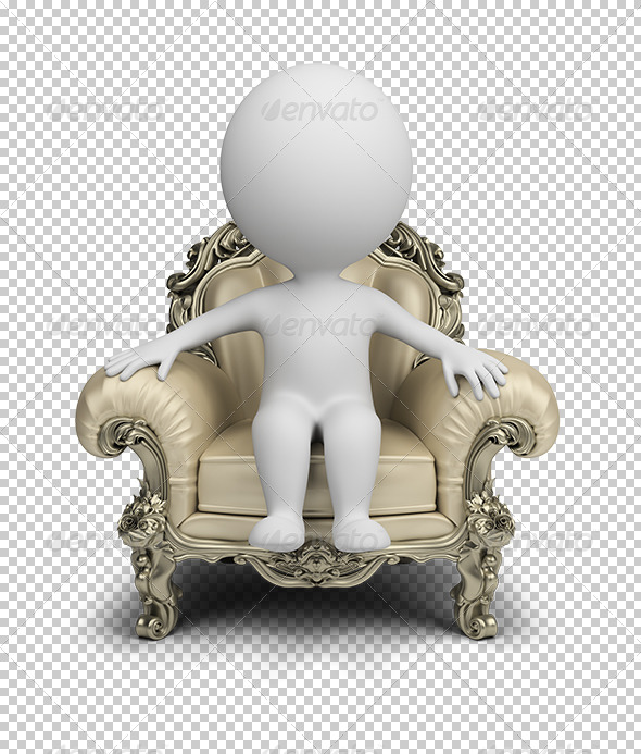 GraphicRiver 3D Small People Luxurious Armchair 5628868