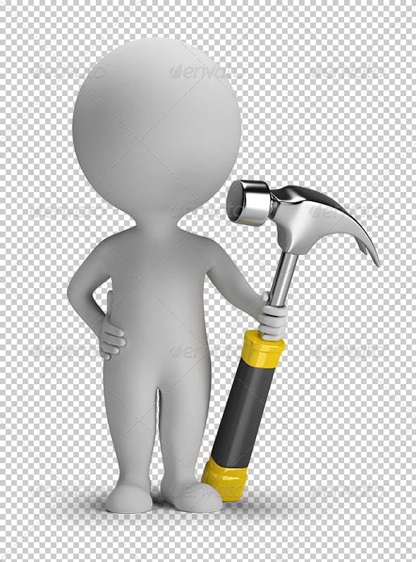GraphicRiver 3D small people with hammer 5628900