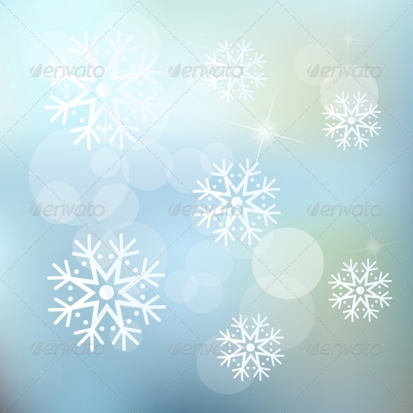 GraphicRiver Christmas Snowflakes Background 5628907